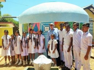 RWH tank handover ceremony at B/Galauda Maha Vidyalaye, Badulla