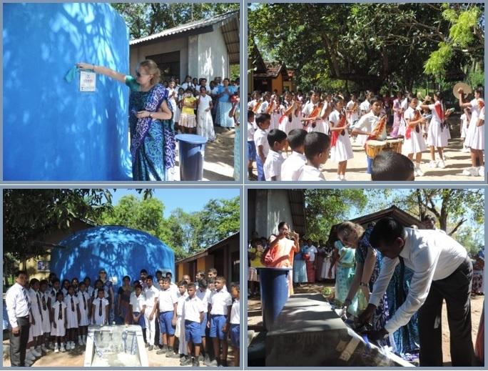 Opening ceremony of the Rain Water Harvesting System at Guruhela Kanishta M.V, Moneragala on the 22nd June 2017