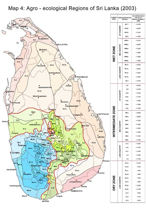 sri lanka map - Department of agriculture