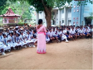 O & M Training program at B/Haddaththava Kanista Vidyalaya on 16th July 2018