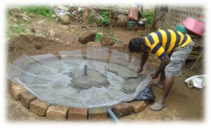Household RWHS construction work (Badulla District)
