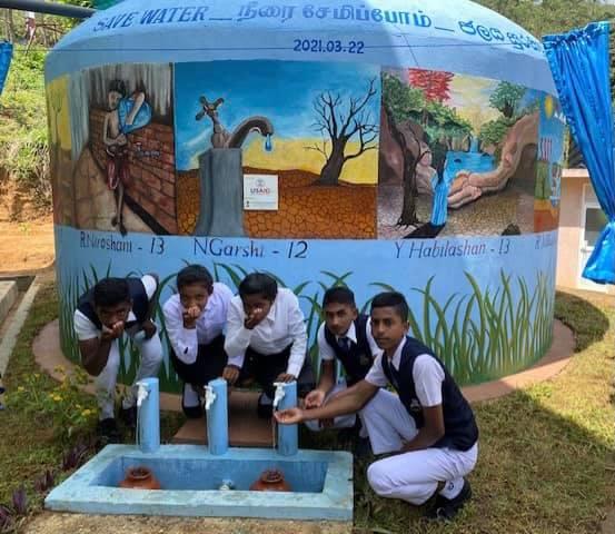 RWH tank handover ceremony at B/Bharathi Maha Vidyalaye, Badulla