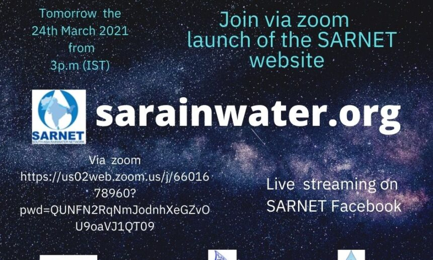 "South Asia Rainwater Harvesting Network (SARNET) launches the website taking on the theme of this year's international water day ""valuing water."""