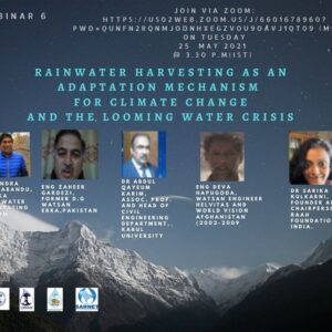SARNET VI webinar highlights the importance of refining the traditional rainwater harvesting technologies to address the growing demand for water