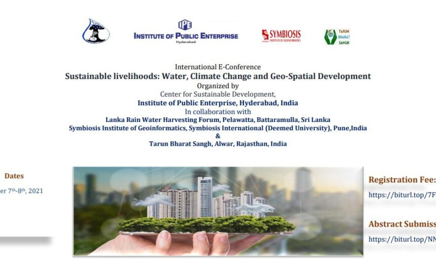 International E-Conference  Sustainable livelihoods: Water, Climate Change and Geo-Spatial Development
