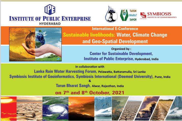 International E Conference Sustainable Livelihoods: Water, Climate Change and Geo-Spatial Development